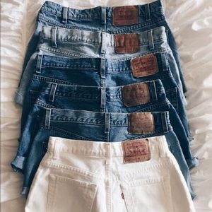 Vintage high waisted shorts mystery box